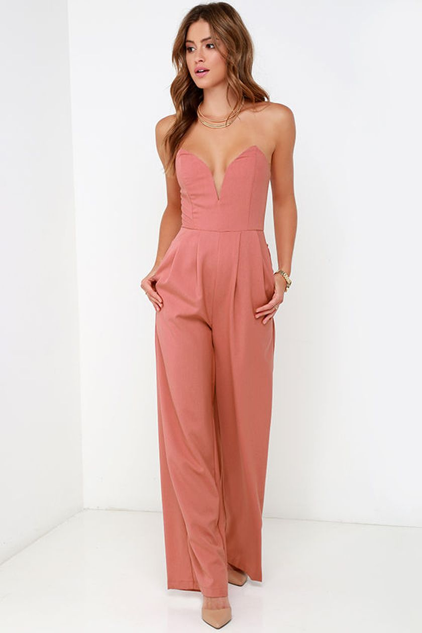 Jumpsuits strapless outfit 39