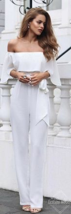 Jumpsuits strapless outfit 42