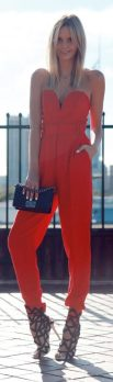 Jumpsuits strapless outfit 47