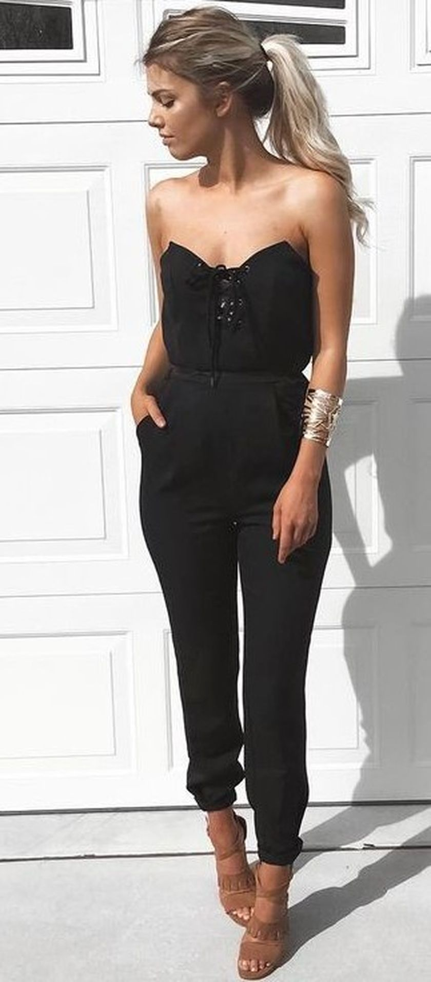 Jumpsuits strapless outfit 48