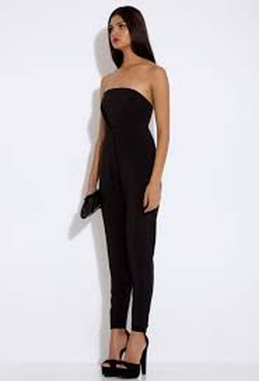 Jumpsuits strapless outfit 5