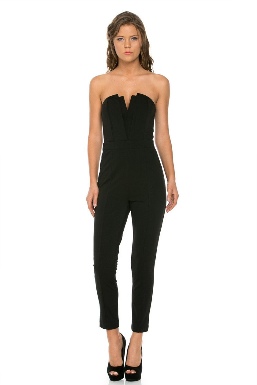 Jumpsuits strapless outfit 55