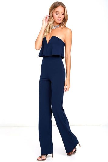 Jumpsuits strapless outfit 62