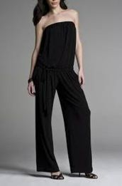 Jumpsuits strapless outfit 7