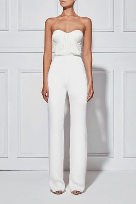 Jumpsuits strapless outfit 88