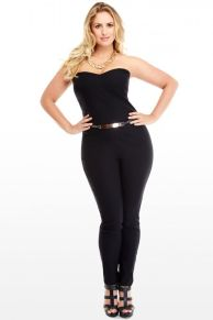 Jumpsuits strapless outfit 99