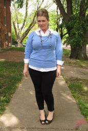 Layering outfits plus size sweaters 8