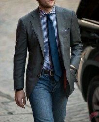 Men sport coat with jeans (141)