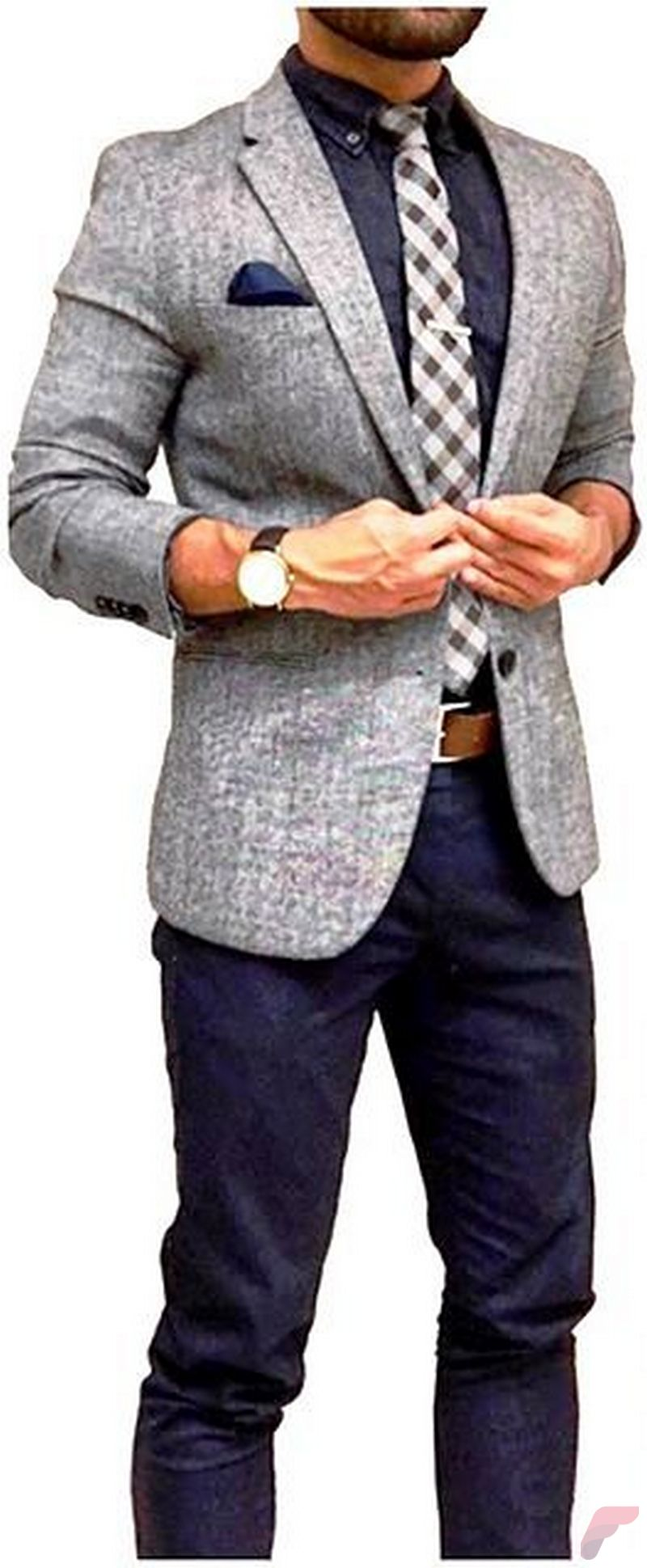 Men sport coat with jeans (147)