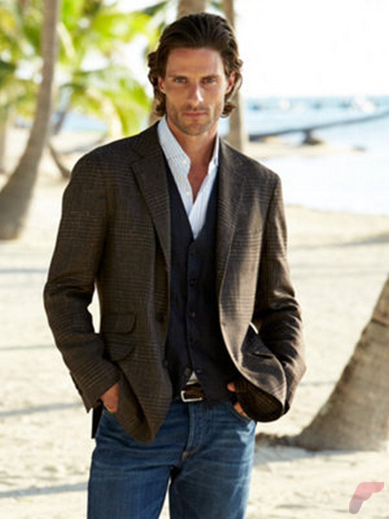 Men sport coat with jeans (149)