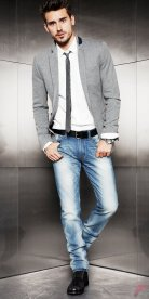 Men sport coat with jeans (151)