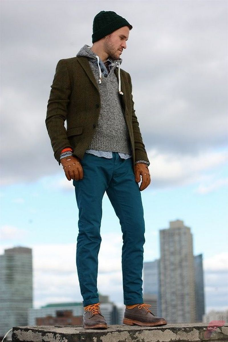 Men sport coat with jeans (158)