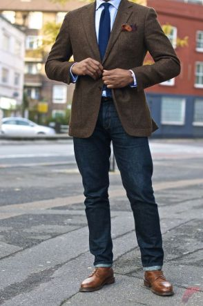 Men sport coat with jeans (165)