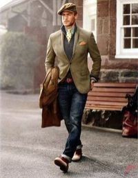 Men sport coat with jeans (181)