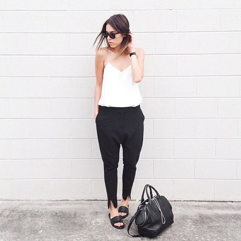 Simple casual french style outfits 25
