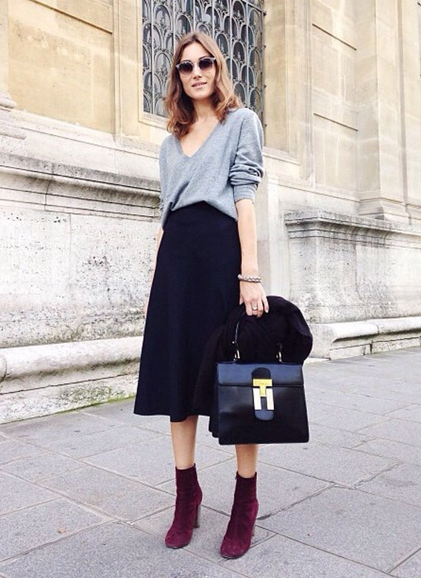 Simple casual french style outfits 4