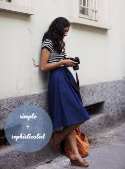 Simple casual french style outfits 60