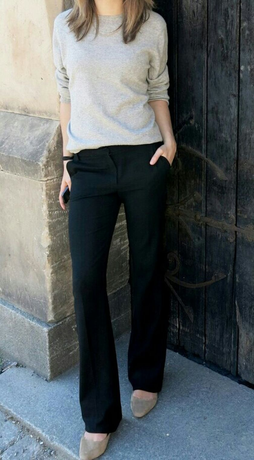 Simple casual french style outfits 62