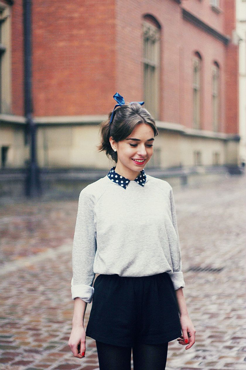 Simple casual french style outfits 9
