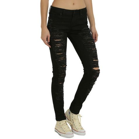 Skinny ripped jeans that will make you rock 50