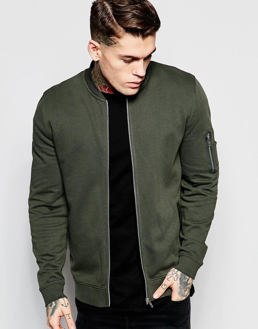 Top best model men bomber jacket outfit 52