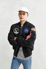 Top best model men bomber jacket outfit 72