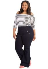 Wide leg denim plus size 11