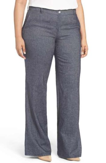 Wide leg denim plus size 2