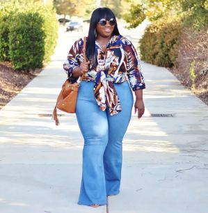 Wide leg denim plus size 21