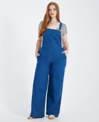 Wide leg denim plus size 37