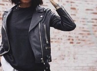 Black leather jacket featured