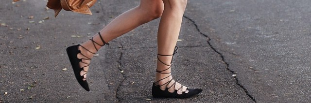 flats lace-up shoes Featured
