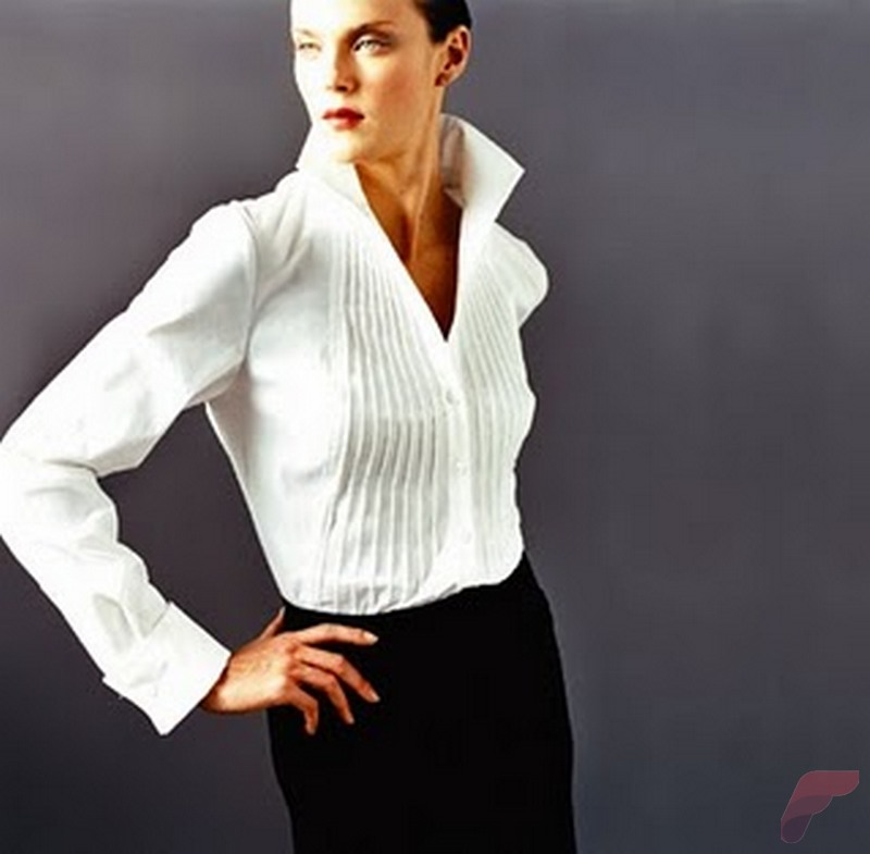Women white shirt for work (301)