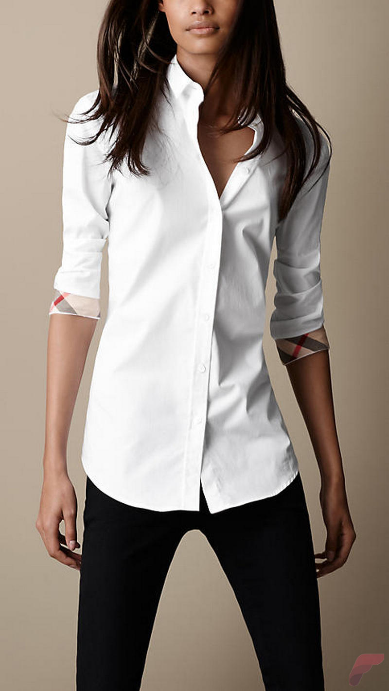 Women white shirt for work (330)