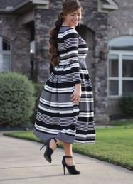 Amazing plus size striped dress outfits ideas 10