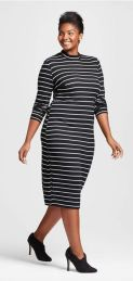 Amazing plus size striped dress outfits ideas 16
