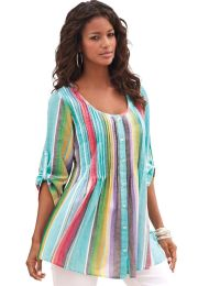 Amazing plus size striped dress outfits ideas 17