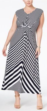 Amazing plus size striped dress outfits ideas 29