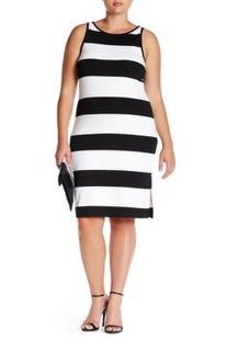 Amazing plus size striped dress outfits ideas 32