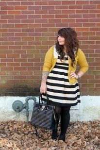 Amazing plus size striped dress outfits ideas 33