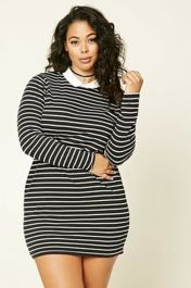 Amazing plus size striped dress outfits ideas 36
