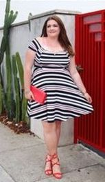 Amazing plus size striped dress outfits ideas 37