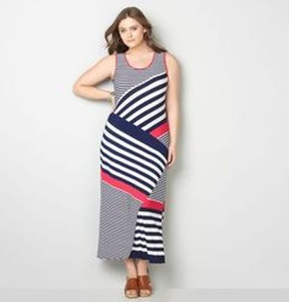 Amazing plus size striped dress outfits ideas 39