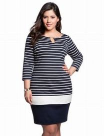 Amazing plus size striped dress outfits ideas 42