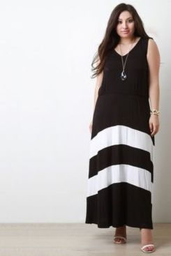 Amazing plus size striped dress outfits ideas 46