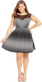 Amazing plus size striped dress outfits ideas 49