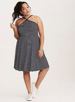 Amazing plus size striped dress outfits ideas 58