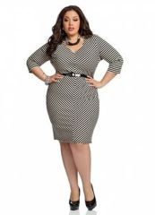 Amazing plus size striped dress outfits ideas 60