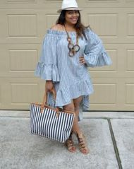 Amazing plus size striped dress outfits ideas 61