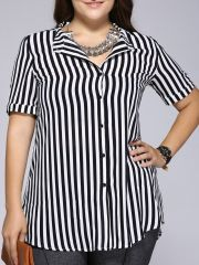 Amazing plus size striped dress outfits ideas 62